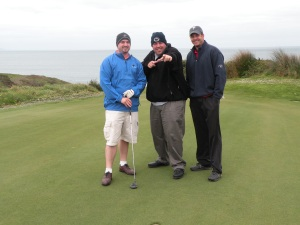 Chad, Mark, and Indianapolis Franchisee Drew Werling spend time golfing during their 2008 vacation.