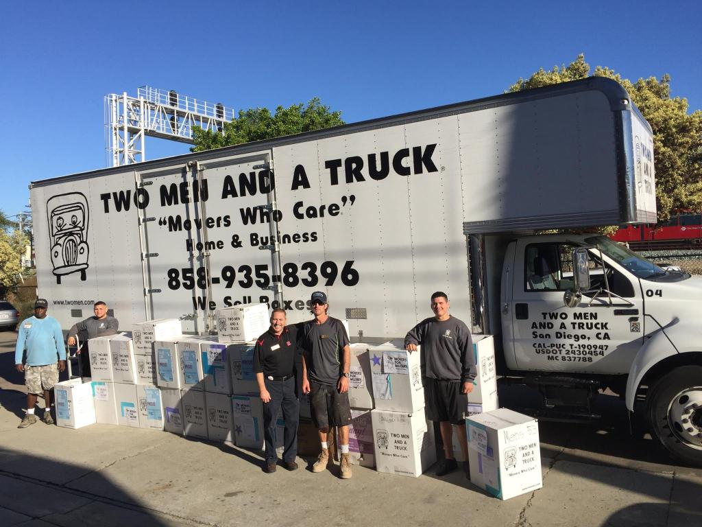 San Diego Movers for Military delivery to VVSD