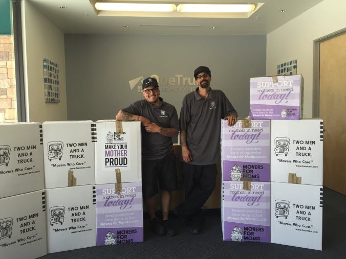 TWO MEN AND A TRUCK® Movers for Moms® donations